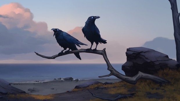 Northgard official artwork for the Raven clan