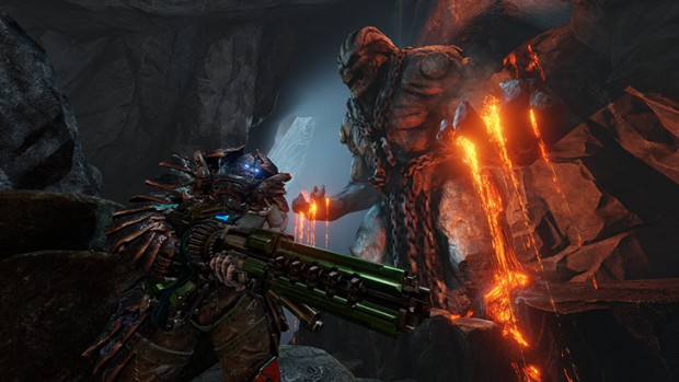 Scalebearer artwork from Quake Champions