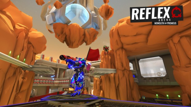 Capture the flag game mode from Reflex Arena
