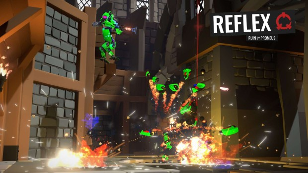 Reflex screenshot of a whole bunch of destruction