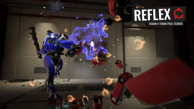 A robot from Reflex getting absolutely destroyed