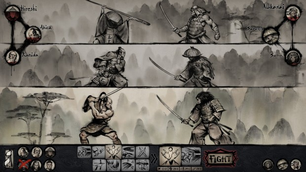 Tales of Ronin screenshot of the turn-based combat