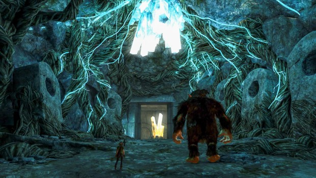 Troll and I screenshot of a cave entrance
