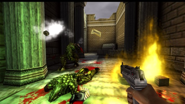 Turok 2: Seeds of Evil remaster screenshot of evil lizard men