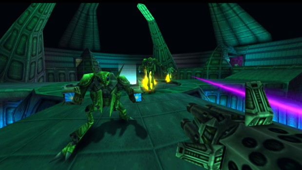Turok 2: Seeds of Evil screenshot of some remastered mantis men