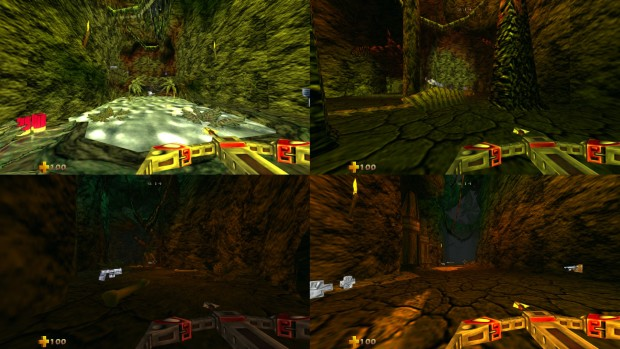 Turok 2: Seeds of Evil remaster screenshot of multiplayer gameplay