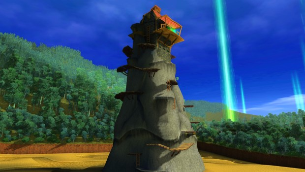 Ty the Tasmanian Tiger 2 remake screenshot of a house on the hill