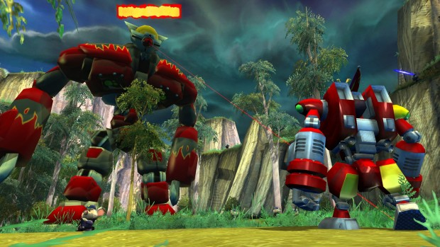 Ty the Tasmanian Tiger 2 screenshot of a giant robot battle