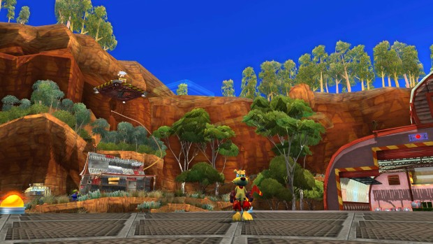 Ty the Tasmanian Tiger 2 screenshot of the town