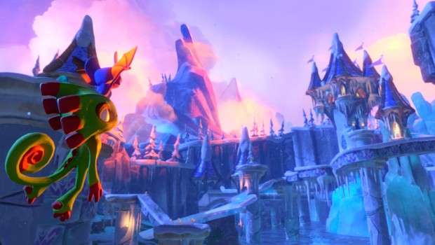 Yooka-Laylee screenshot featuring the Glitterglaze Glacier