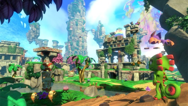 Yooka-Laylee screenshot of the first world