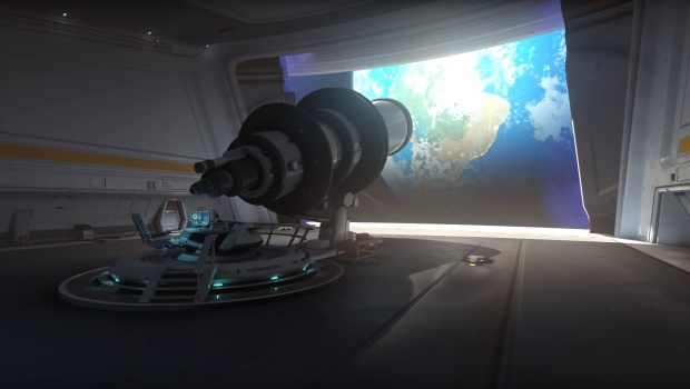 Overwatch Horizon Lunar Colony map screenshot of the telescope