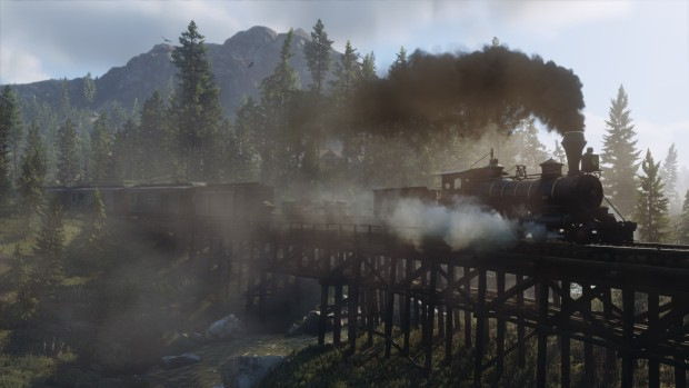 Screenshot of a train from Red Dead Redemption 2