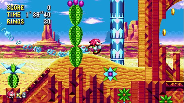 Sonic Mania screenshot of Knuckles running