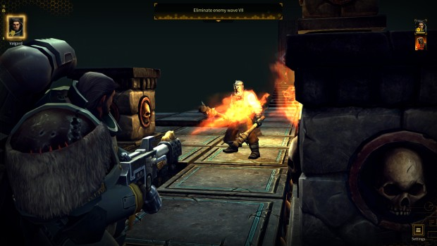Warhammer 40,000: Space Wolf survival mode flamethrower screenshot