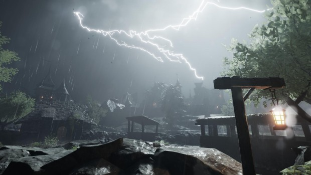 Vermintide Stromdorf screenshot of stormy weather