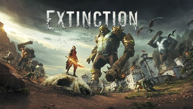 Extinction official artwork and logo