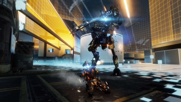 Titanfall 2's action screenshot on the new War Games map