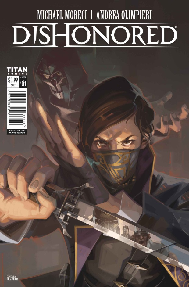 Dishonored 2 official comic book cover art full-size
