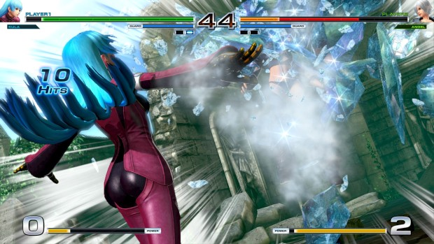 King of Fighters XIV screenshot of ice magic