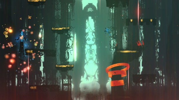 Screenshot from the metroidvania platformer Outland