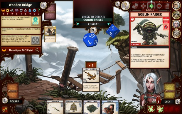 Pathfinder Adventures PC screenshot showing a goblin raider