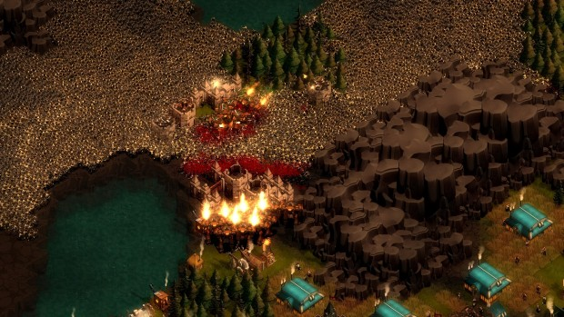 They Are Billions screenshot of the endless zombie hordes