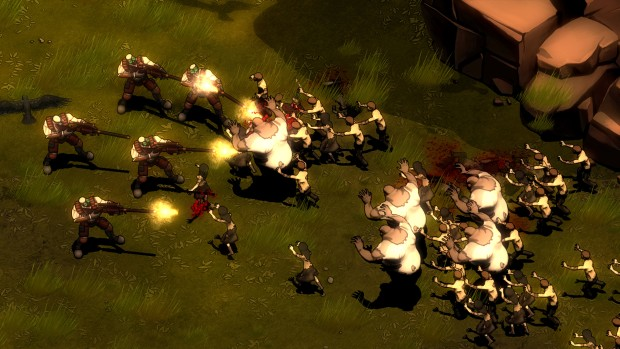 They Are Billions screenshot of zombies vs riflemen