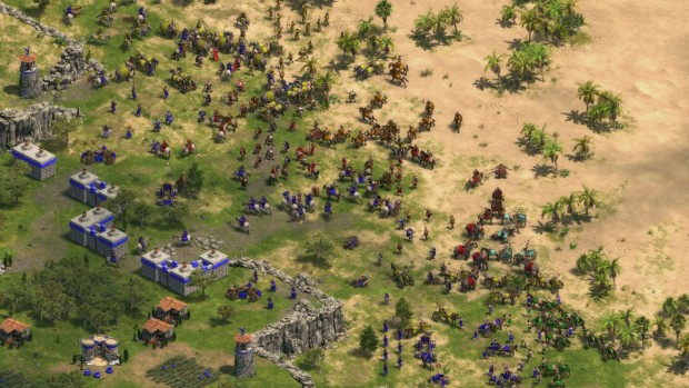 Age of Empires: Definitive Edition screenshot of a massive battle