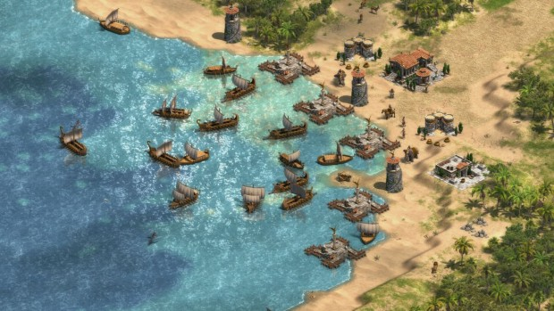 Age of Empires Definitive Edition screenshot of a large fleet