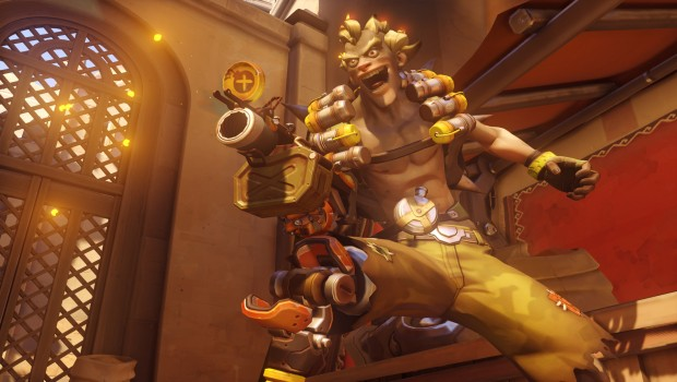Overwatch screenshot of Junkrat looking at the camera