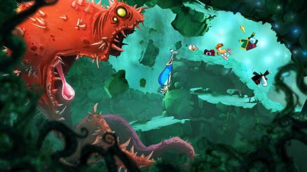 Rayman Origins screenshot of the red plant boss