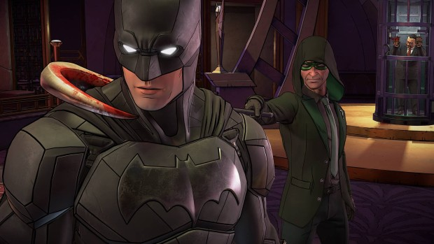 Batman: The Enemy Within screenshot of the Riddler
