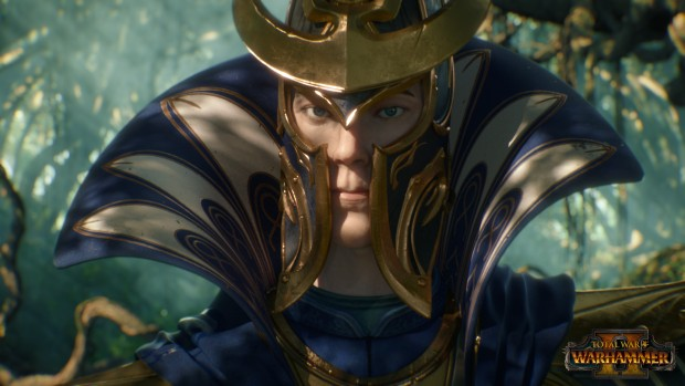 Total War: Warhammer 2 screenshot of the High Elf leader from the cinematic