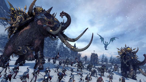 Total War: Warhammer's Norsca mammoth in battle