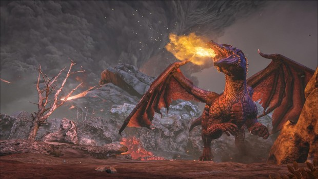 Ark: Survival Evolved screenshot of a mighty dragon