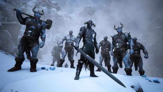 Conan Exiles The Frozen North screenshot of the Ice Giants