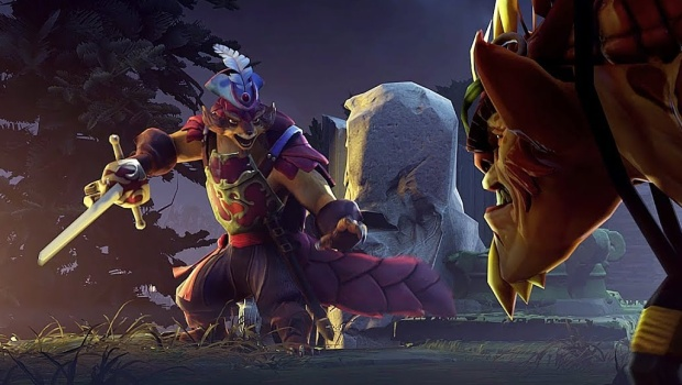 Dota 2 screenshot of the new Pangolin hero