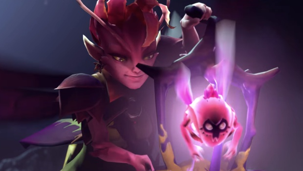 Dota 2 screenshot of the new hero Sylph
