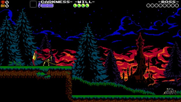 Shovel Knight screenshot of Specter Knight from his own expansion