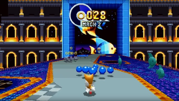 Sonic Mania screenshot from the bonus stages