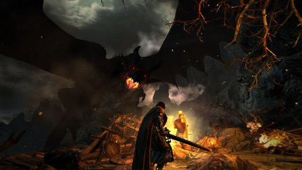 Dragon's Dogma official screenshot featuring a giant dragon