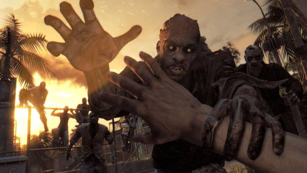 Dying Light zombies at sundown