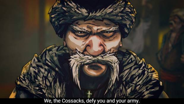 A very angry Cossack.