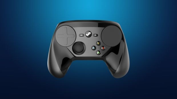 Official promo photo of the Steam Controller