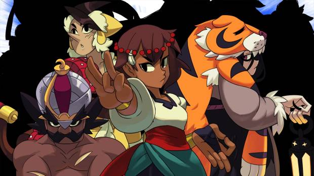 Indivisible characters striking a pose.