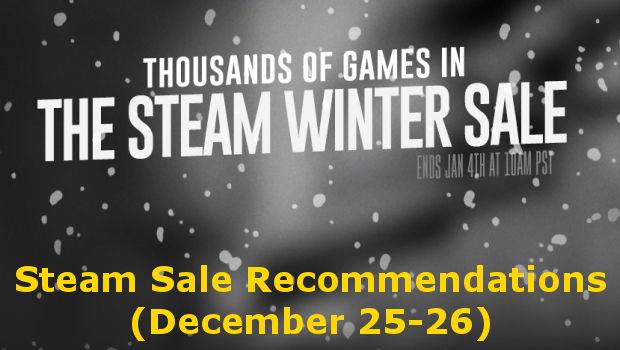 My recommendations for the steam winter sale of December 25-26