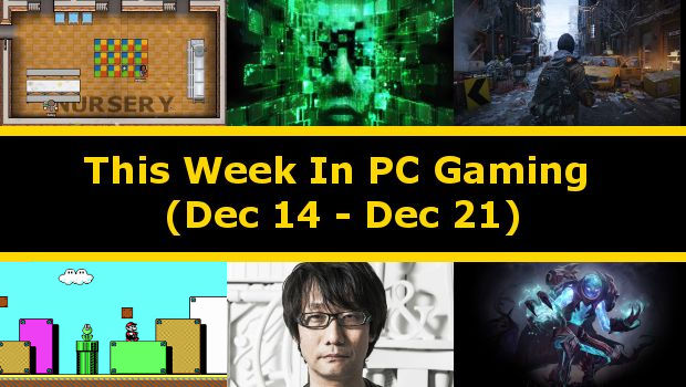 This Week In PC gaming is a showcase of all the important events that happened this week, both indie and AAA