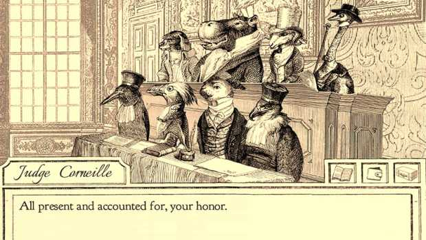 Aviary Attorney is a detective game where the main characters are Victorian birds