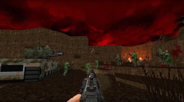 Brutal Doom Update V20b adds a new 32 map-long campaign and various other improvements